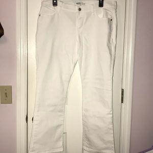 Old Navy White Jeans Diva Cut Straight Leg